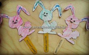 popsicle stick bunny crafts