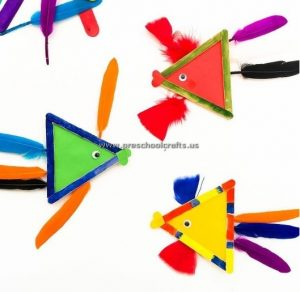 popsicle stick fish craft idea for kids