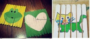 popsicle stick puzzle crafts for kids