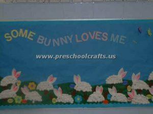 preschool easter bunny bulletin boards