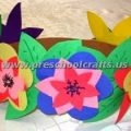 preschool spring headband craft from flowers