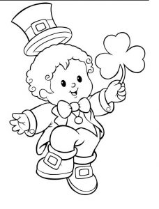 printable St. Patrick's Day coloring pages for preschool