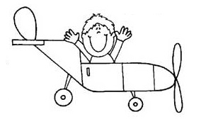 printable airplane vehicles coloring pages for toddler, preschool and kindergarten
