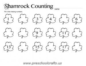printable st patrick day worksheets for kindergarten