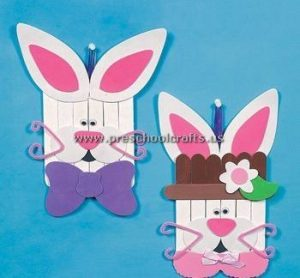 rabbit popsicle stick crafts for kids