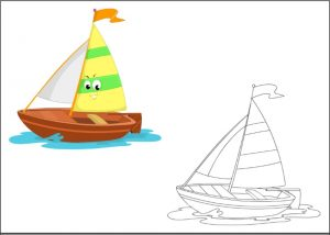sailboat coloring pages for kindergarten and preschool