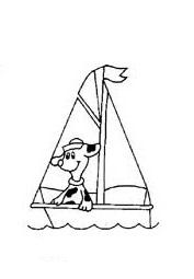 sailboat coloring pages for preschool and kindergarten - printable