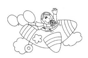 sailplane coloring pages for preschool and kindergarten