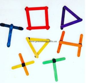 shapes and letters popsicle stick crafts