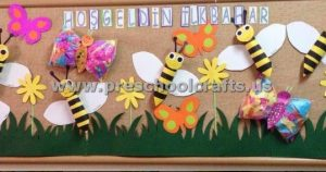spring bulletin board for classroom