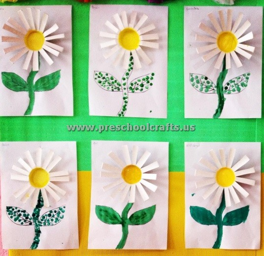 Daisy Flower Craft For Preschool