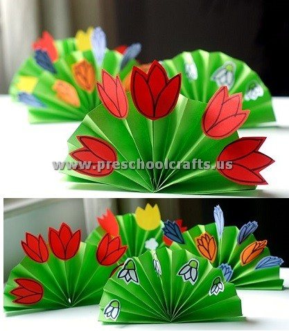 Spring craft ideas for kids preschool and kindergarten spring flowers crafts for kids mightylinksfo Choice Image