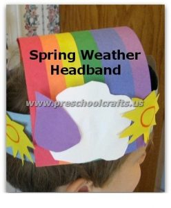 spring rainbow crown craft ideas for kids
