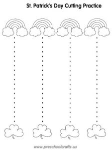 st patrick day trace line worksheets