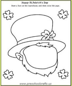 st patricks day worksheets for kindergarten