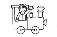 train coloring pages for preschool
