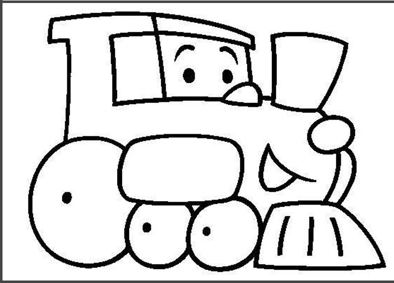 train colouring pages for kids  Preschool Crafts