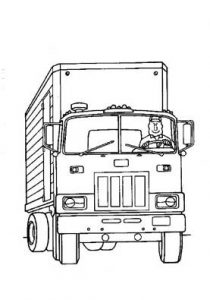 truck coloring pages for preschool