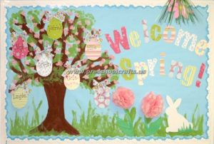 welcome easter bulletin boards