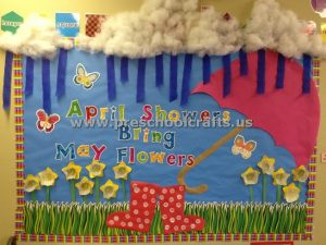 welcome spring bulletin board idea for preschool teachers