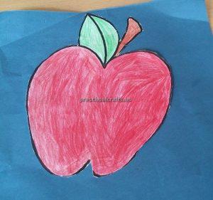 Apple Craft Idea for Kindergarten - Spring Fruits Craft Ideas