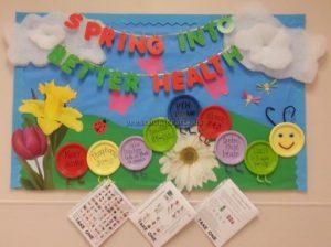 Bulletin board ideas for the health week