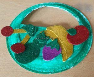 Cherry Banana Tomato Eggplant Craft Ideas for Kindergarten - Spring Fruits Craft Ideas