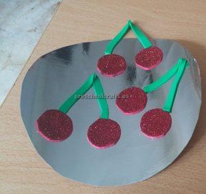 Cherry Craft Ideas for Kindergarten - Spring Fruit Craft Idea