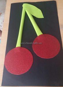 Cherry Craft Ideas for Kindergarten - Spring Fruits Craft Idea