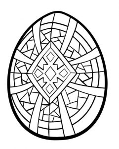 Coloring pages related to egg happy easter for Kindergartners