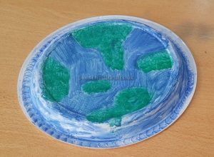 Earth Day Paper Plate Craft Idea for Preschool