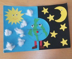 Earth Day Theme Craft Idea for Kindergartners