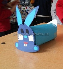 Easter Bunny Paper roll Craft for Preschool