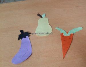 Eggplant Pear Carrot Craft Ideas for Kindergarten - Spring Fruits Craft Ideas