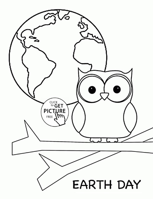 Free Earth Day Coloring Page For Kindergarten