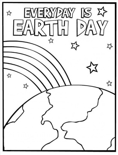 Free Earth Day Coloring Page for