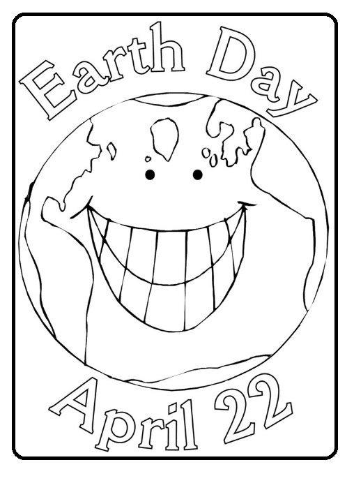 Free Printable Earth Day Coloring Page For Kindergarten 22 April