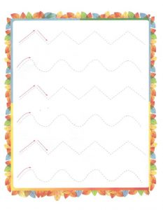 Free Printable Tracing Line Worksheet for Kids