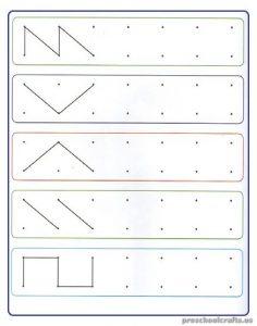 Free Printable Tracing Line Worksheet for Preschoolers