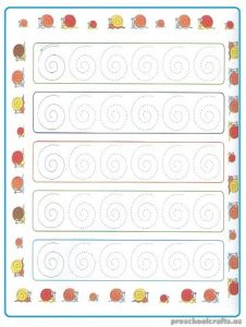 Free Printable Tracing Sheet for Kindergarten