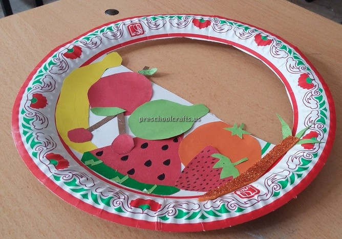 Fruits Paper Plate Craft Ideas For Kindergarten