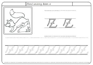 Handwriting z worksheet for kindergarten - Practice letter z worksheets for 1st grade