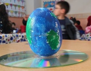 Happy Earth Day Cd Craft Idea for Preschool
