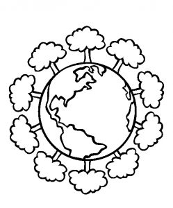 Happy Earth Day Coloring Pages for Kids