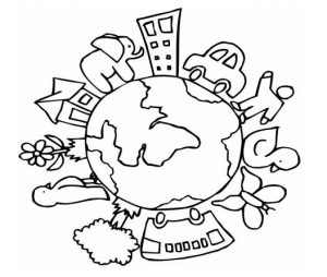 Happy Earth Day Colouring Pages for Kids