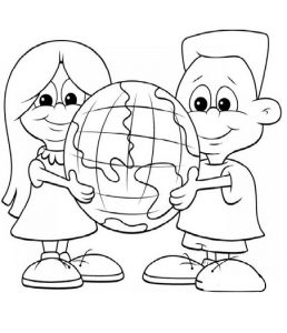 Happy Earth Day Colouring Pages for Toddler