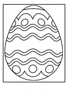 Happy Easter Egg Coloring Pages for Kids