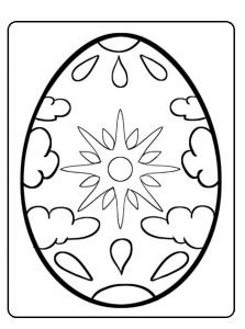 Happy Easter Egg Colouring Pages for Preschoolers