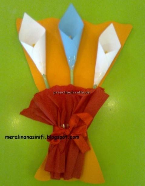 Happy Mothers Day Flower Crafts Ideas 2 on Preschool Human Body Activities