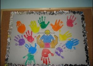 Happy mother's day hand print crafts ideas